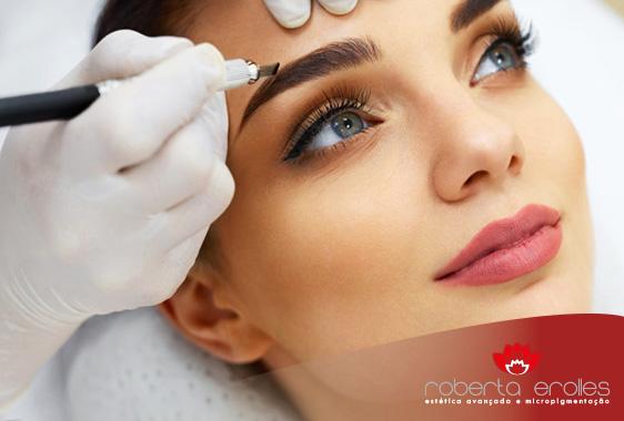 Os procedimentos da micropigmentação para sobrancelhas