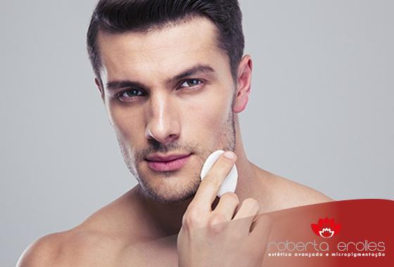 Homens também precisam cuidar da pele